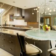 View of kitchen, glass; granite and stone countertops, countertop, cuisine classique, estate, home, interior design, kitchen, real estate, brown, orange