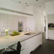 View of white home kitchen. architecture, countertop, interior design, kitchen, real estate, room, gray