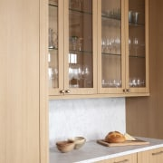 Traditional style new home cabinetry, closet, countertop, cupboard, furniture, interior design, kitchen, wood stain, orange, brown