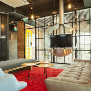 Mixing the old with the new – a interior design, living room, lobby, loft, real estate, brown