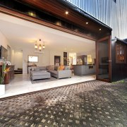 Designed to provide natural cross ventilation, this house estate, home, house, interior design, lobby, property, real estate