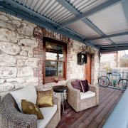 The renovation of this traditional limestone workers cottage home, house, interior design, outdoor structure, real estate, window, gray, white