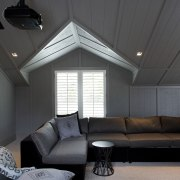 Timberworld supplied and delivered every building material requirement architecture, ceiling, daylighting, home, house, interior design, living room, room, window, black, gray