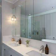 Experienced plumbing, drainage, and gas-fitting company WaterFX supplied bathroom, bathroom accessory, bathroom cabinet, countertop, home, interior design, room, sink, gray