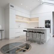 Trends Light White Kitchen Has Adjacent Underground