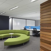 One of many casual meeting spaces in the architecture, ceiling, conference hall, daylighting, floor, interior design, office, product design, gray, brown