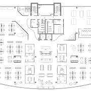 Floor plan showing how the Social Kitchen and area, artwork, black and white, design, diagram, drawing, floor plan, font, line, line art, pattern, plan, product, product design, structure, technical drawing, text, white