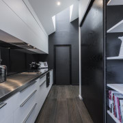 As part of this new kitchen by designer architecture, interior design, kitchen, product design, gray, black