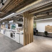 My Food Bag's ground floor development kitchen has interior design, office, gray