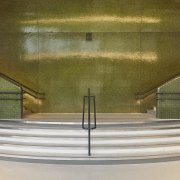 The upstairs entry into the Auditorium, part of architecture, daylighting, interior design, stairs, brown, gray