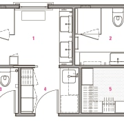 1 main bathroom, 2 master ensuite, 3 guest architecture, area, design, diagram, drawing, floor plan, line, plan, product, product design, square, structure, technical drawing, white