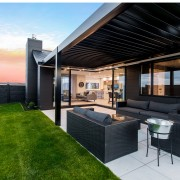 Welcome to a relaxed lifestyle – public areas estate, home, house, interior design, patio, penthouse apartment, property, real estate, roof, black