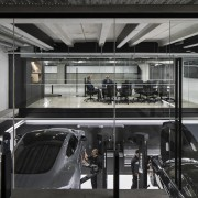 Staff amenities, servicing and parking occupy the basement automotive design, automotive exterior, public transport, black, gray