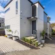 St Georges Bay Road apartments Auckland were built architecture, building, facade, home, house, property, real estate, residential area, siding, gray