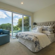 Spacious bedrooms with views are all part of bed frame, bedroom, estate, home, interior design, property, real estate, room, wall, window, gray