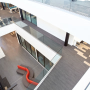 The top level of Te Ara o Mauao, architecture, building, daylighting, glass, white, gray