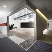 Catching some sun while underground – the University architecture, daylighting, floor, flooring, interior design, gray, black