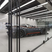 Warren and Mahoney Architects specified Chant's Line handles automotive design, automotive exterior, glass, metal, steel, structure, gray, black