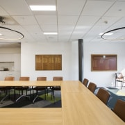 The board room in the new EMA head ceiling, conference hall, daylighting, interior design, office, gray