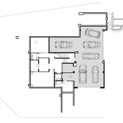 Basement level in this architectural home by house angle, area, black and white, design, diagram, drawing, floor plan, font, line, plan, product, product design, text, white
