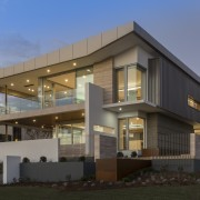 This home's many apertures and glass corners give architecture, building, commercial building, corporate headquarters, elevation, facade, home, house, mixed use, property, real estate, residential area, black
