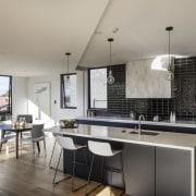 A picture of white, black and metal trim, architecture, countertop, interior design, kitchen, real estate, gray