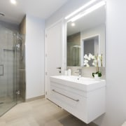 A high quality bathroom is a feature in bathroom, bathroom accessory, bathroom cabinet, home, interior design, property, real estate, room, gray, white