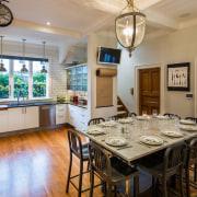 This renovation by designer Simone van der Plas ceiling, countertop, dining room, estate, home, interior design, kitchen, real estate, room, gray