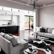 Dalecki DesignSee the home here floor, home, interior design, living room, property, real estate, room, white, gray