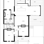The 'after' floorplan shows how a new addition angle, area, black and white, design, diagram, drawing, floor plan, font, line, plan, product, product design, square, text, white
