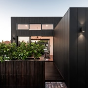 Line of sight – looking from the rear architecture, facade, home, house, real estate, black
