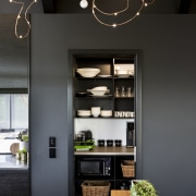Now you see me – a quick slide ceiling, interior design, black