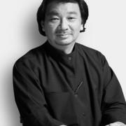 Architect Shigeru Ban designed the sculptural La Seine black and white, gentleman, monochrome, monochrome photography, person, profession, professional, black, white