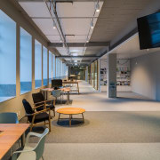 The refit of the Hutt Council's administration building ceiling, daylighting, institution, interior design, office, gray