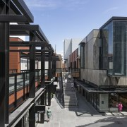 Wilson and Hill Architects incorporated a variety of architecture, building, mixed use, black