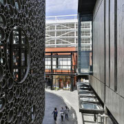 A variety of texture and form creates a architecture, building, structure, gray, black
