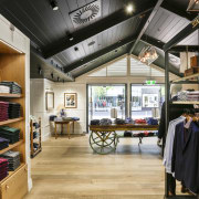 Upmarket fashion brands like Rodd & Gunn are black, gray