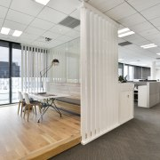 The Chapman Tripp law offices on the top architecture, ceiling, floor, flooring, interior design, office, gray