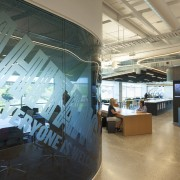 As part of the transparency theme in the architecture, interior design, office, black