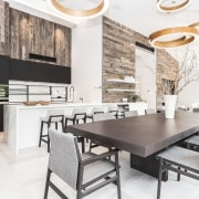 Poliform Kitchen from Studio Italia countertop, dining room, furniture, interior design, kitchen, table, white