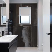 6 Hoiho Place Bathroom bathroom, bathroom accessory, bathroom cabinet, interior design, room, sink, black, gray