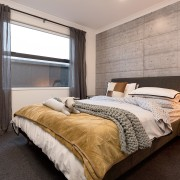 6 Hoiho Place Bedroom 2 bed frame, bedroom, ceiling, estate, floor, home, interior design, property, real estate, room, wall, window, wood, gray
