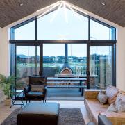 6 Hoiho Place Living Outdoor estate, interior design, living room, real estate, window, gray