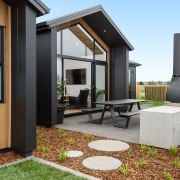 6 Hoiho Place Outdoor Area architecture, backyard, home, house, interior design, property, real estate