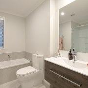 8 Hoiho Place Bathroom bathroom, bathroom accessory, bathroom cabinet, home, interior design, property, real estate, room, sink, window, gray