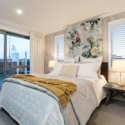 8 Hoiho Place Bedroom 1 bed frame, bedroom, ceiling, estate, home, interior design, property, real estate, room, wall, window, gray