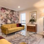 8 Hoiho Place Lounge ceiling, home, interior design, living room, property, real estate, room, window, orange