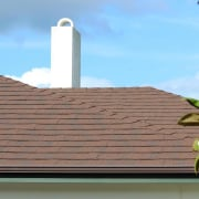 Re-roofing is key to a healthy home daylighting, facade, outdoor structure, property, roof, sky, wall, brown, teal