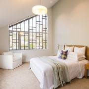 Feature Windows Bring Character And Create Light Filled bed frame, bedroom, ceiling, estate, home, interior design, property, real estate, room, suite, window, gray