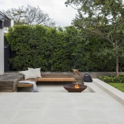 Fire Pit In Project By Landart Landscapes Credit architecture, backyard, courtyard, floor, house, landscape, landscaping, outdoor structure, patio, real estate, walkway, yard, brown, gray